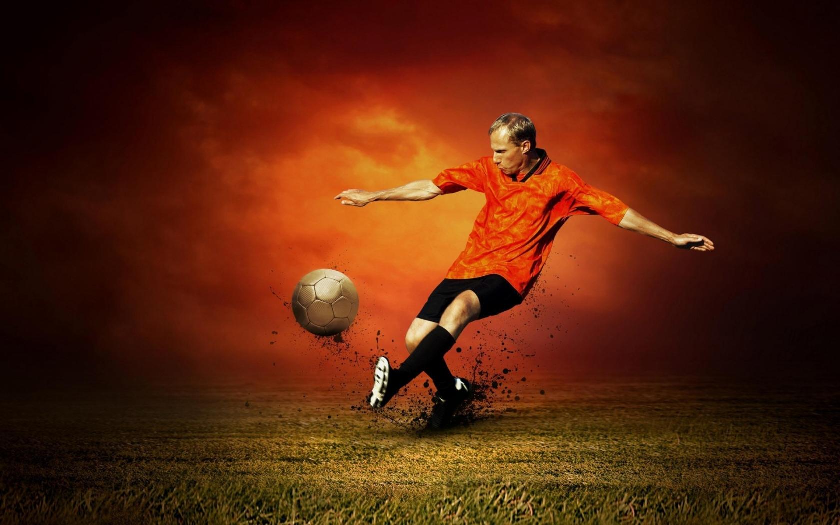 Спорт футбол удар по мячу обои рабочий