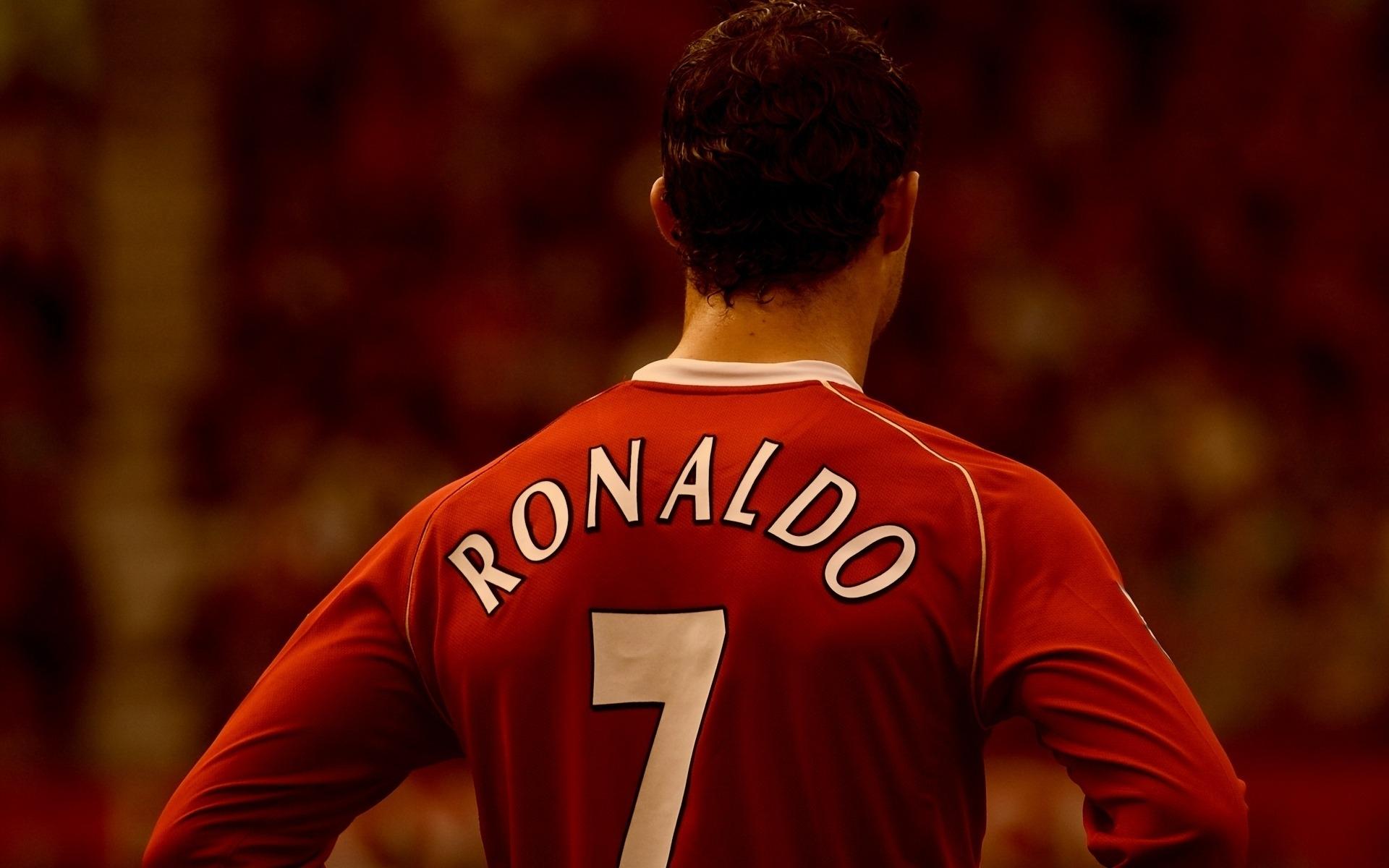 Спорт футбол ronaldo спина форма обои